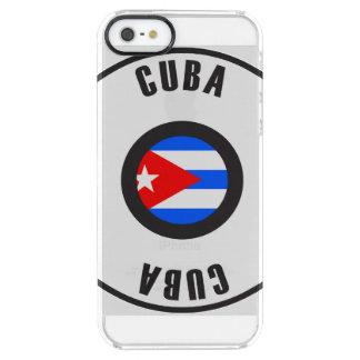 キューバの旗のシンプル クリア iPhone SE/5/5sケース