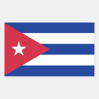 キューバの旗のステッカー 長方形シール