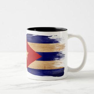 キューバの旗のマグ ツートーンマグカップ