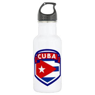 キューバの旗の盾 ウォーターボトル