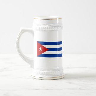 キューバの旗の~の地図のマグ ビールジョッキ