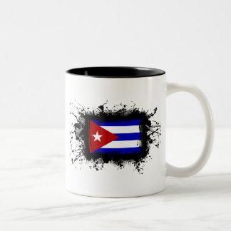 キューバの旗 ツートーンマグカップ