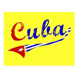 キューバの旗 ポストカード