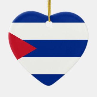キューバの旗- Bandera Cubana -キューバの旗 セラミックオーナメント
