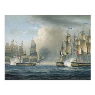 キューバの沖のHMS ArethusaによるPomoneの捕獲 ポストカード