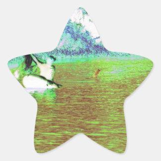キューバの田園魚釣り 星シール