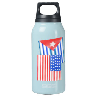 キューバの米国旗 断熱ウォーターボトル