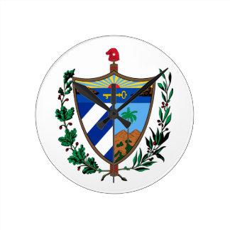 キューバの紋章付き外衣 ラウンド壁時計