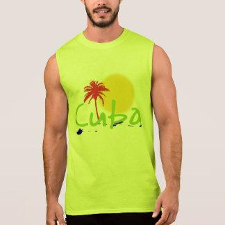 キューバのtropixのワイシャツは発汗し、 袖なしシャツ