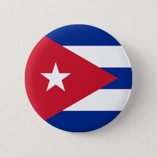 キューバボタンの旗 5.7CM 丸型バッジ