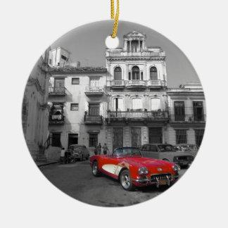 キューバ車3 セラミックオーナメント