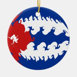 キューバ|すごい|旗 クリスマスツリーオーナメント