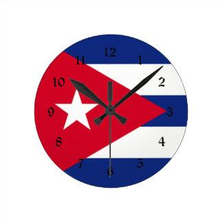 キューバ: キューバの旗 ラウンド壁時計