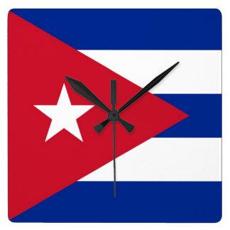 キューバ スクエア壁時計