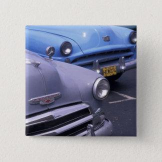 キューバ、ハバナ。 クラシックな50年代の自動車 5.1CM 正方形バッジ