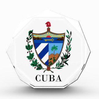 キューバ-記号か紋章付き外衣か旗または色または紋章 表彰盾