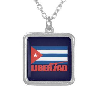 キューバ- Libertad シルバープレートネックレス