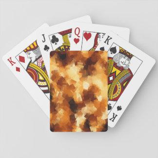 キュービズムの火の抽象芸術パターン トランプ