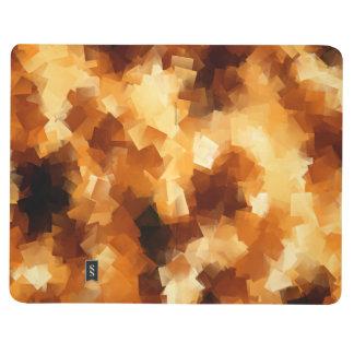 キュービズムの火の抽象芸術パターン ポケットジャーナル
