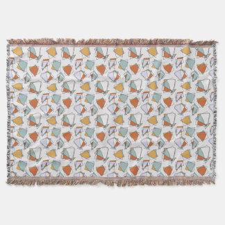 キュービズムパターン毛布 スローブランケット