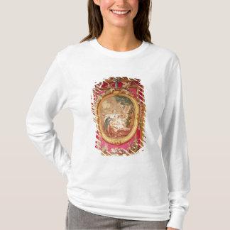 キューピッドおよび精神を描写するタペストリーのパネル Tシャツ
