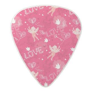 キューピッドが付いているバレンタインデーパターン アセタール ギターピック