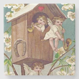 キューピッドによっては巣箱のハートの蹄鉄が開花します ストーンコースター