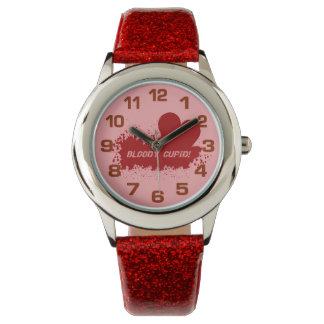 キューピッドのユーモアの腕時計 腕時計