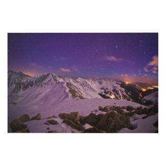 キューピッドの天の眺め ウッドウォールアート