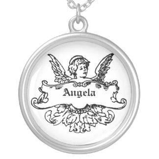 キューピッドの天使のカスタマイズ可能な一流のネックレス シルバープレートネックレス