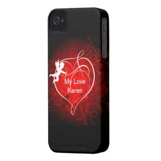 キューピッドのiphoneの場合 Case-Mate iPhone 4 ケース