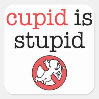 キューピッドは愚かなアンチバレンタインの日です スクエアシール