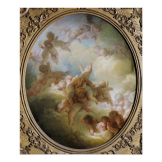 キューピッド、c.1767の群れ ポスター