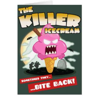 キラーアイスクリームの映画のポスターのバースデー・カード カード