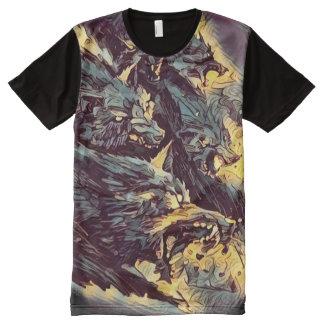 キラーウルフパックの暗い恐怖芸術 オールオーバープリントT シャツ