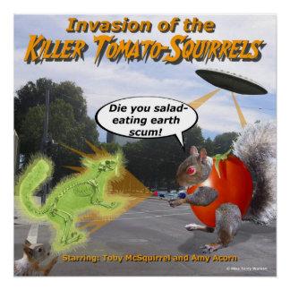 キラートマトのリスの侵入 ポスター