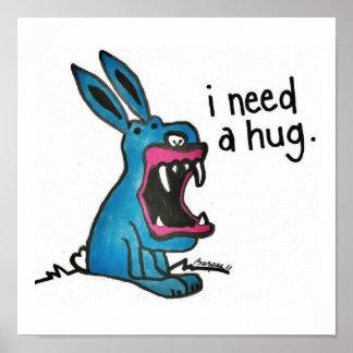 キラーバニーは抱擁を必要とします ポスター