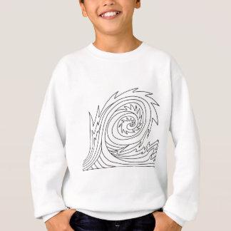 キラー波DIYの着色の落書きのギフト スウェットシャツ