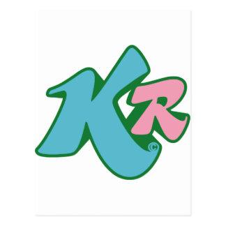 キラー赤のイニシャルのロゴ ポストカード