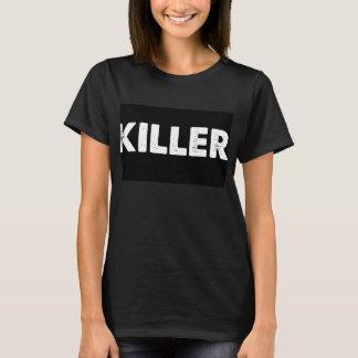 キラー黒いv首のTシャツのブロガーの一突き Tシャツ