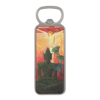 キリストおよび仏、c.1890-1892 マグネット栓抜き