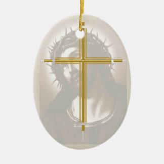 キリストおよび十字 セラミックオーナメント