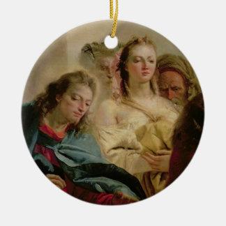 キリストおよび姦婦1751年(キャンバスの油) セラミックオーナメント