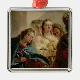 キリストおよび姦婦1751年(キャンバスの油) メタルオーナメント