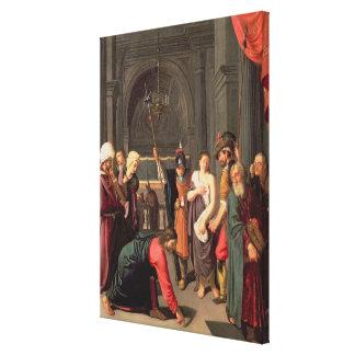 キリストおよび姦通で取られる女性 キャンバスプリント