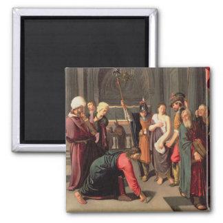 キリストおよび姦通で取られる女性 マグネット