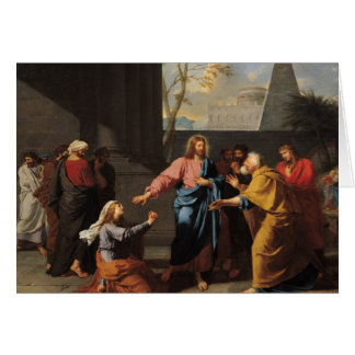 キリストおよびCanaanite女性1783-84年 カード