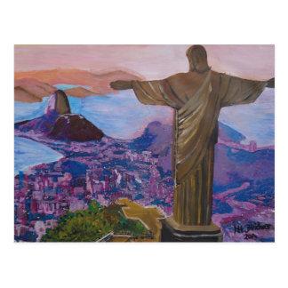 キリストが付いているリオデジャネイロ救い主 ポストカード