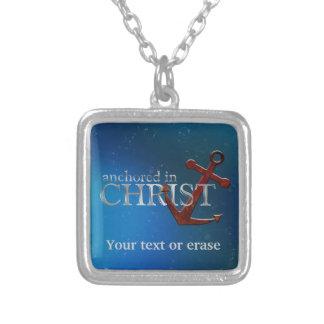 キリストで固定するカスタマイズ可能 シルバープレートネックレス