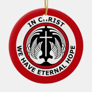 キリストで私達は永遠の希望を有します セラミックオーナメント